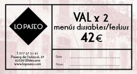 Val regal restaurant Lo Paseo Ulldecona